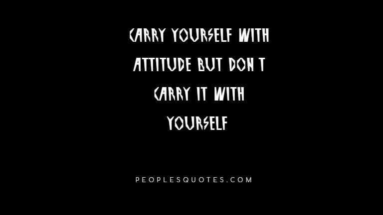 Short quotes on attitude