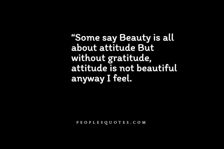Attitude With Gratitude Quotes