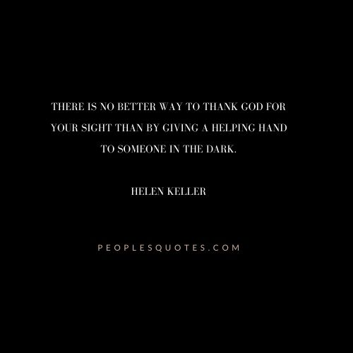 Helen Keller Quotes on Vision