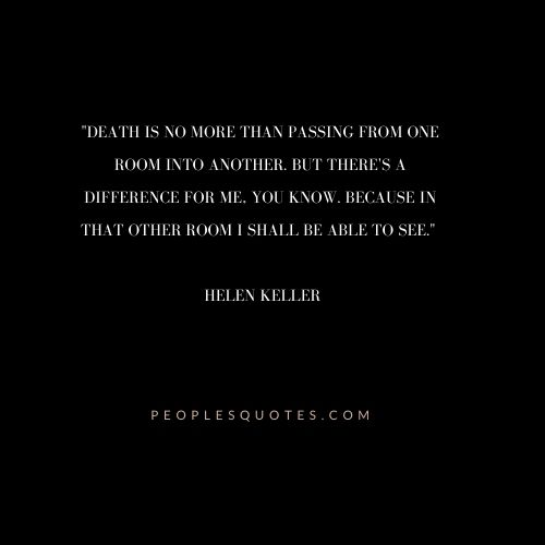 Helen Keller Quotes about Death