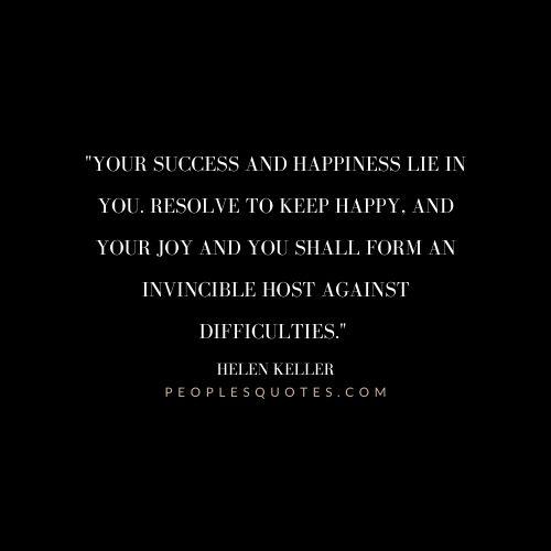 Helen Keller joy Quotes