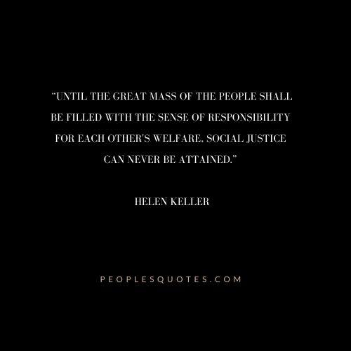 Best Quotes of Helen Keller on Justice