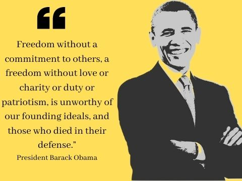 4th of July Freedom Quotes by Presidents