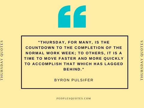 Thursday Motivational work quotes
