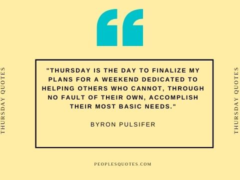 Thursday Motivational Quotes about Work