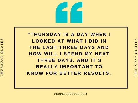 Thursday Morning Quotes for Work