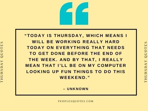 Thursday Motivational Quotes on Work