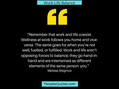 Work and Life balance quote image