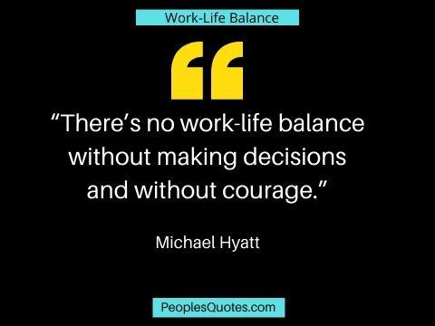 Life work balance quotes image