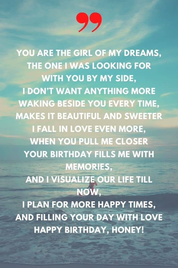 happy birthday love poems for her
